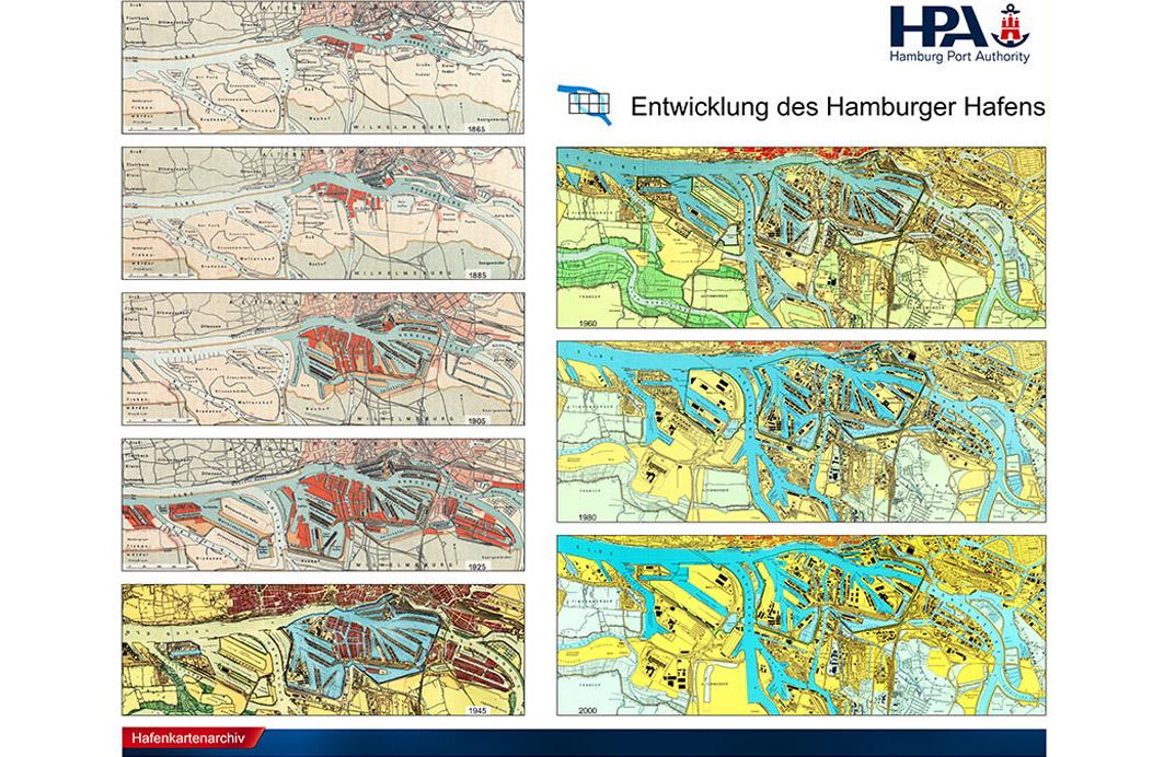 Hamburg Hafen Hafenentwicklungs-Poster