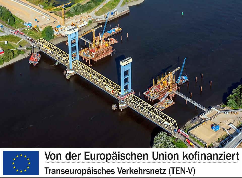 [Translate to English:] Die Neue Bahnbrücke Kattwyk